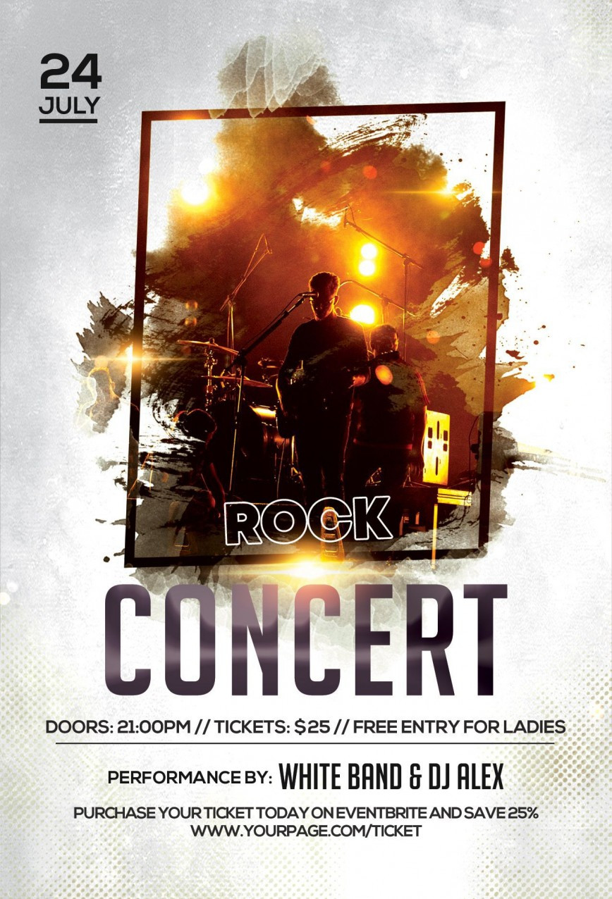 Free Concert Flyer Template Addictionary