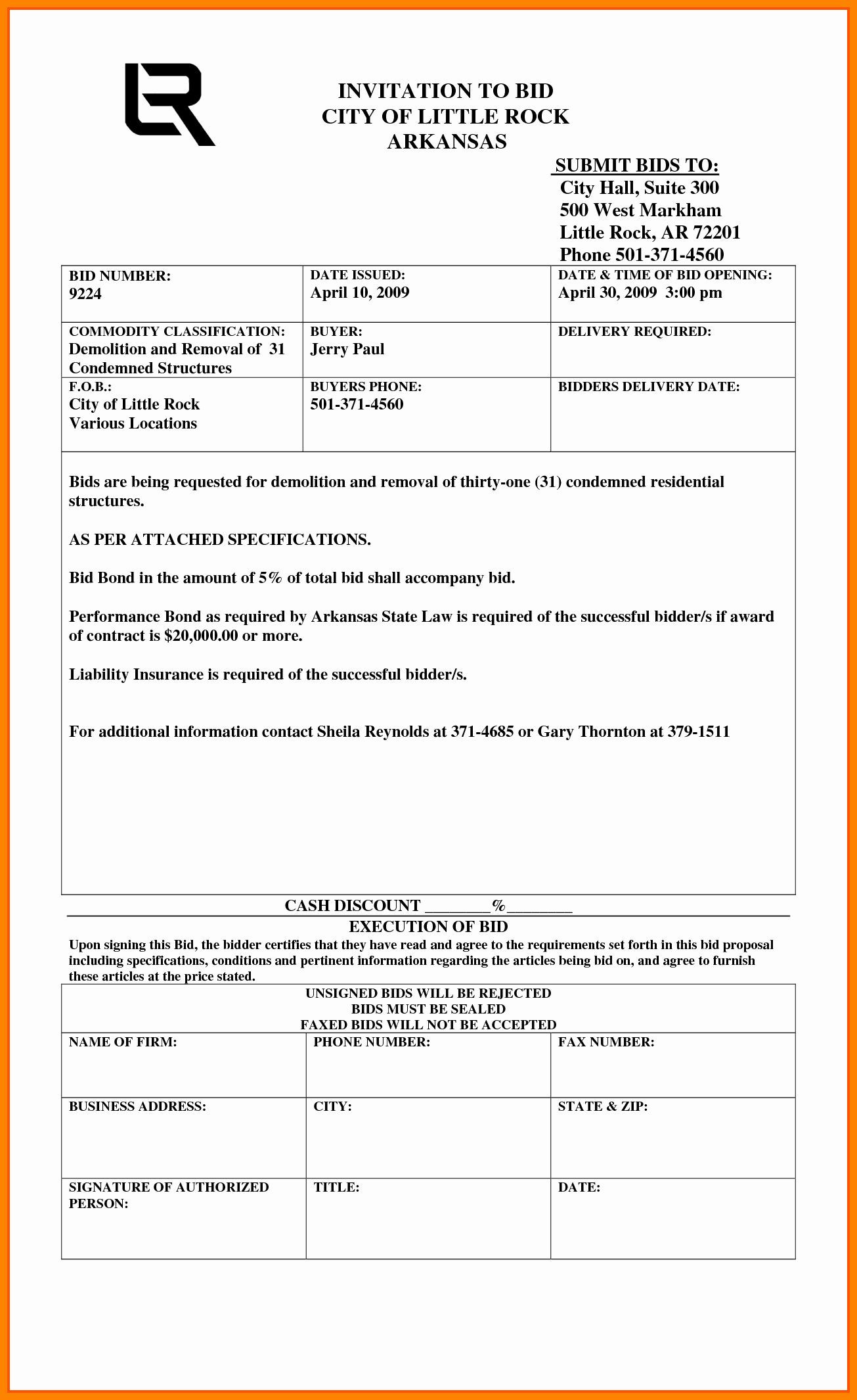 Free Contractor Proposal Template