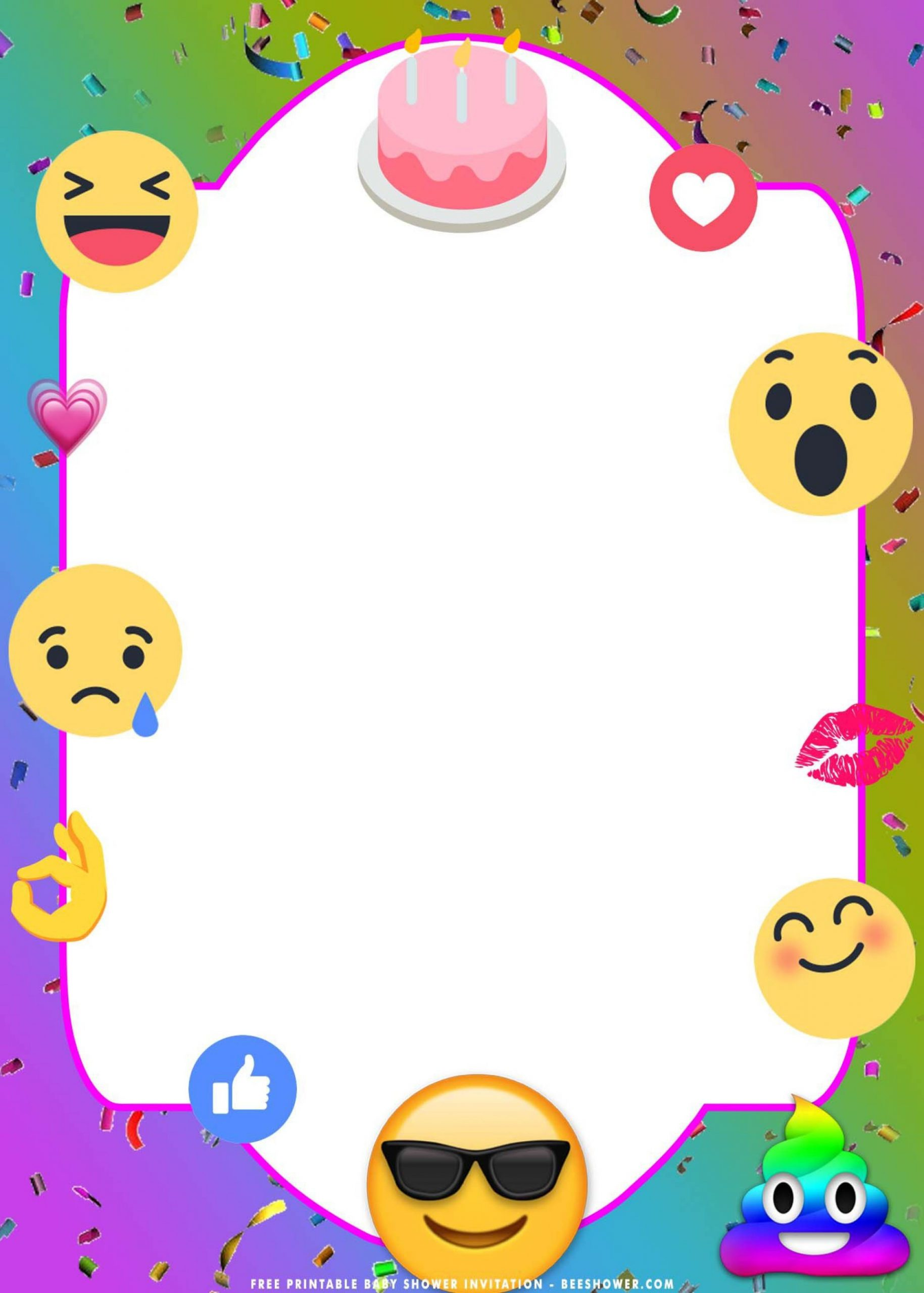 Free Emoji Invitation Template