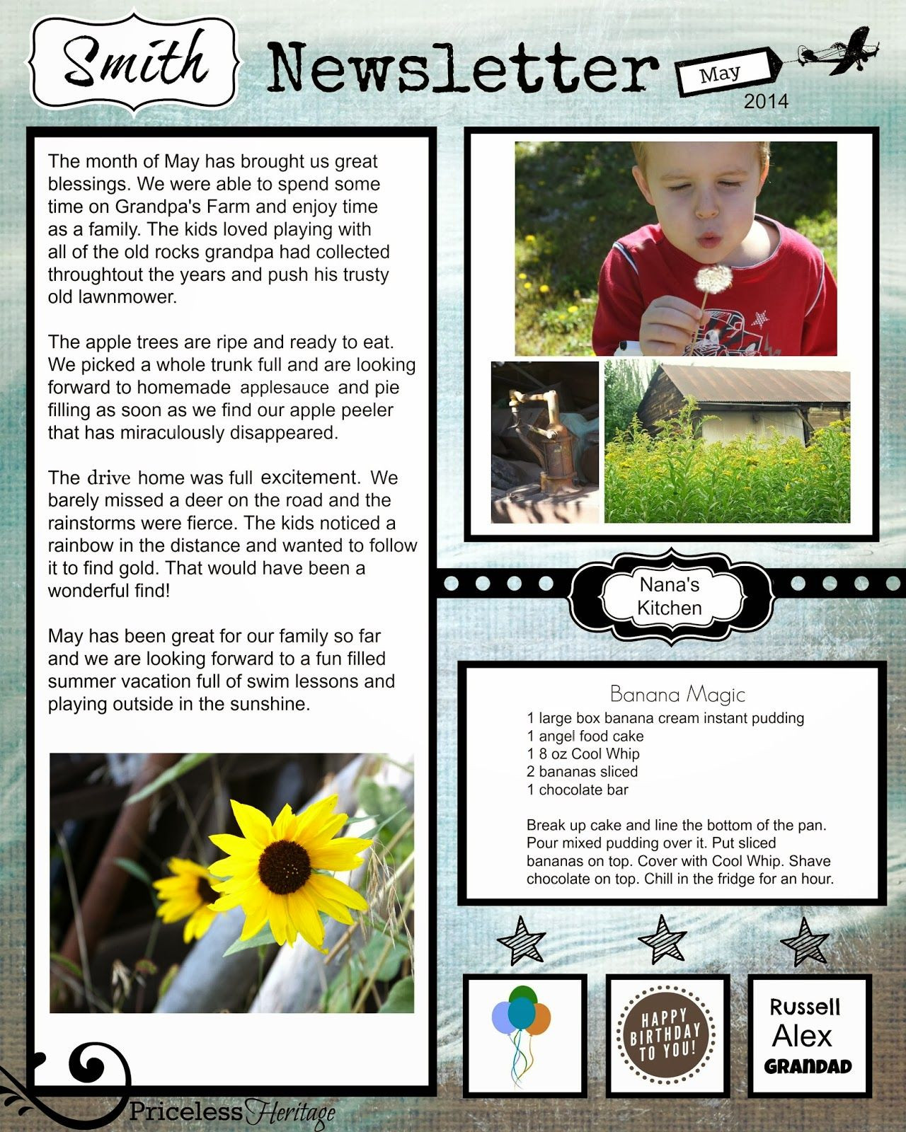 Free Family Newsletter Template
