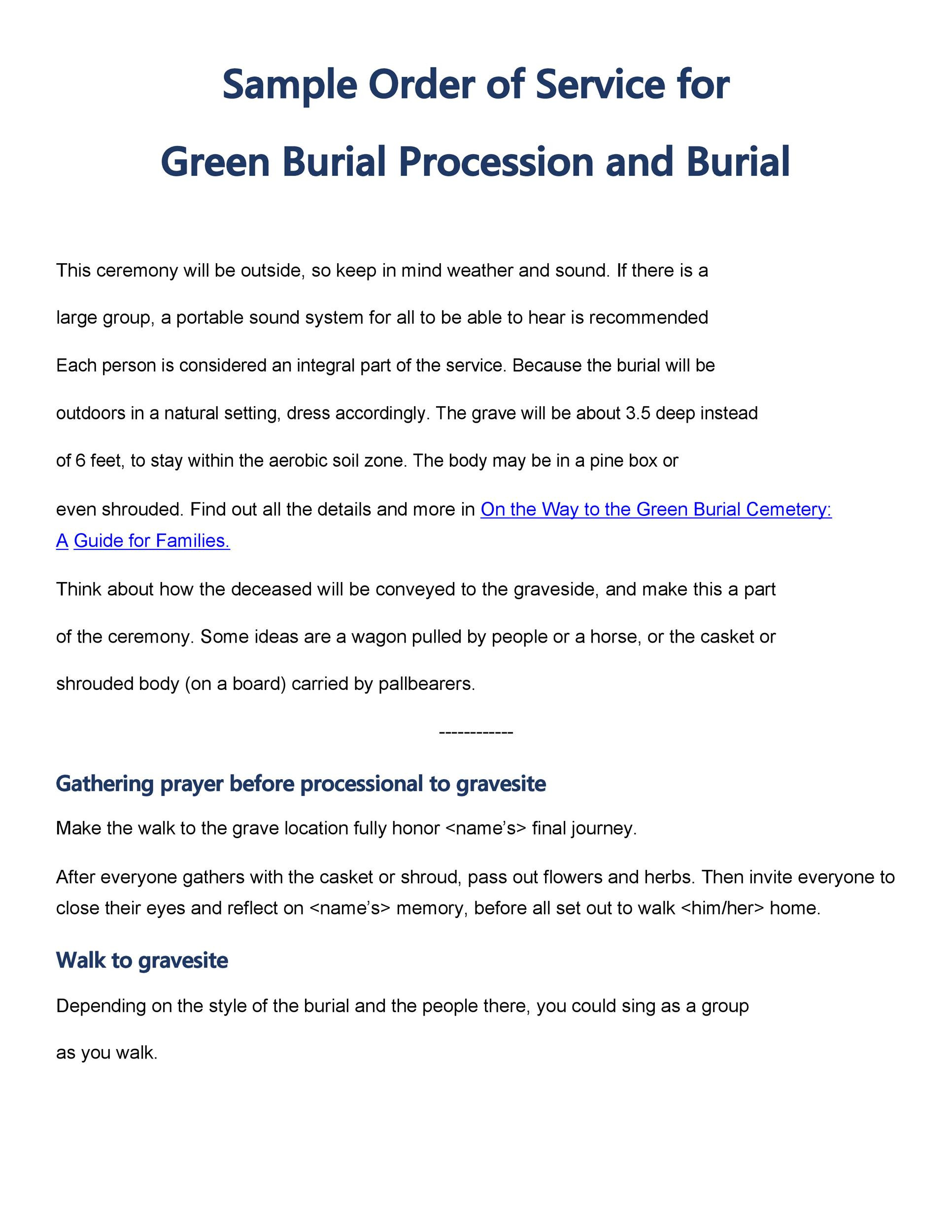 Free Funeral Pamphlet Template