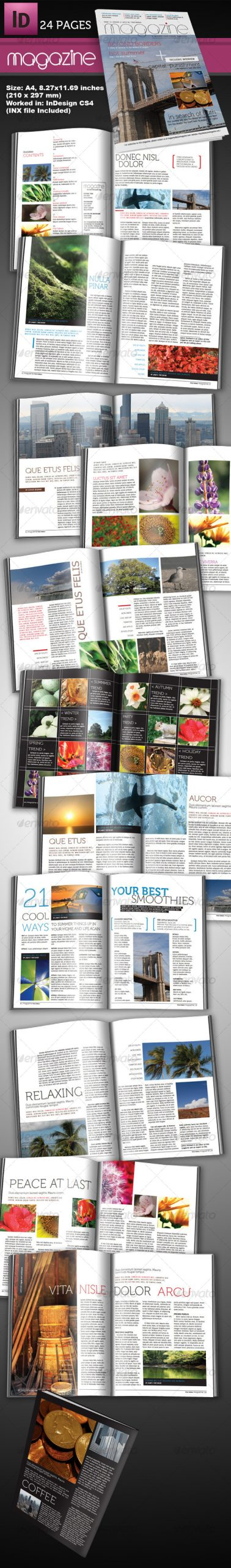 Free Magazine Template Indesign