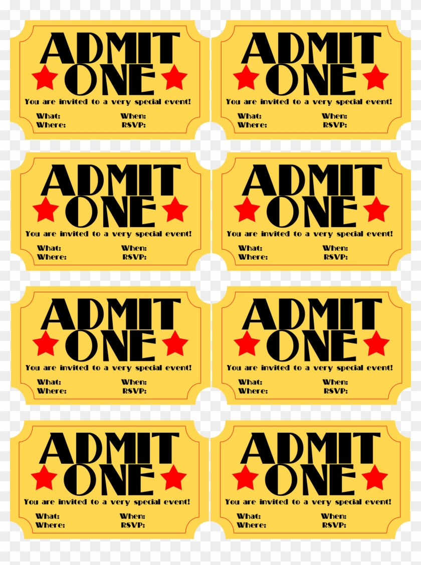Free Movie Ticket Template