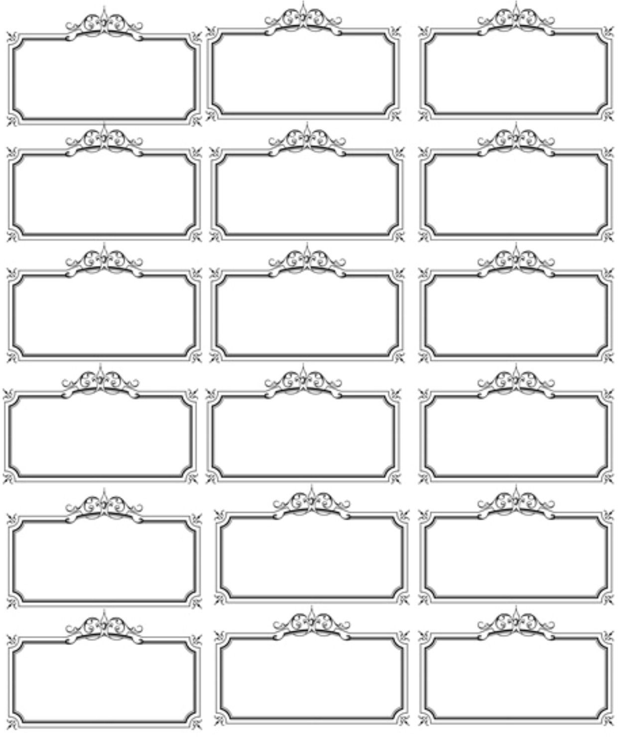 Free Name Tag Template