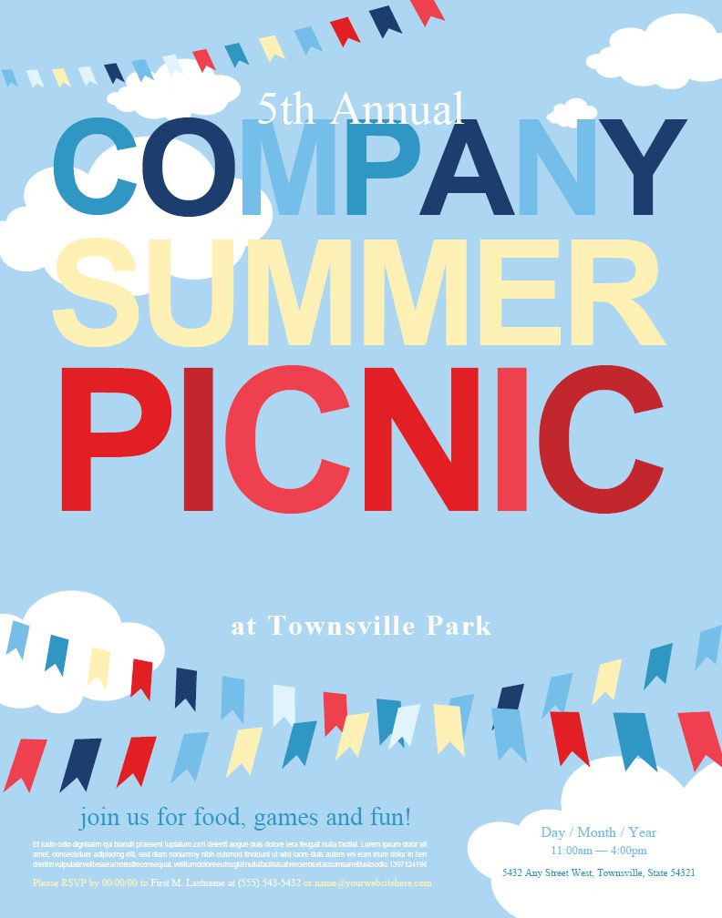 Free Picnic Flyer Template