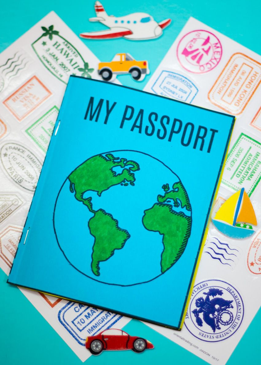 DIY Mini Passport Book Free Printable