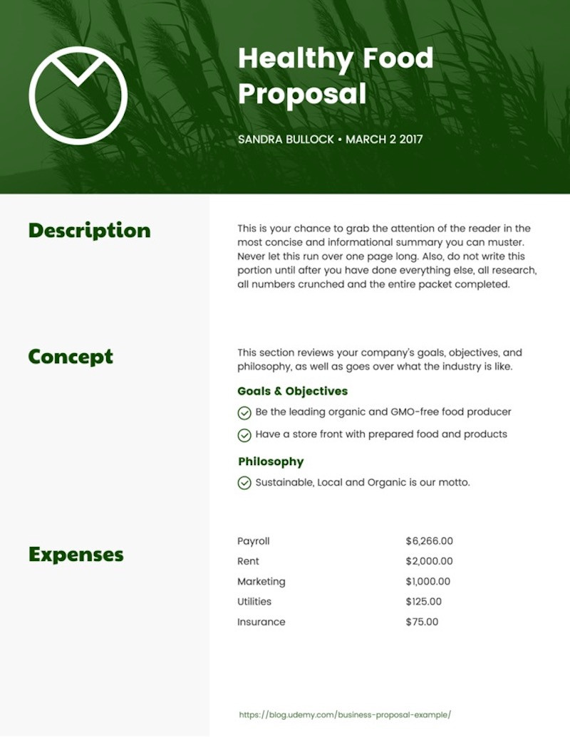 Free Proposal Template Word