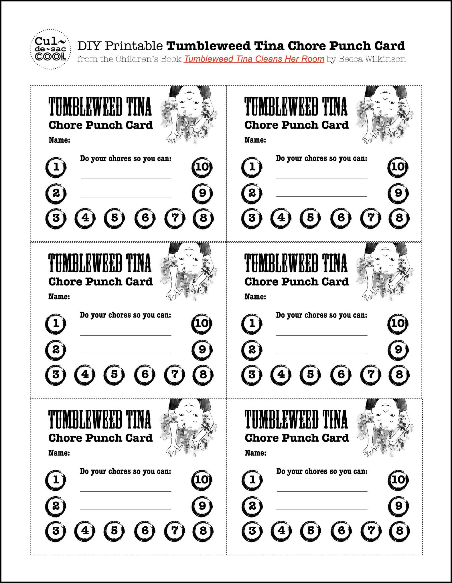 Free Punch Card Template