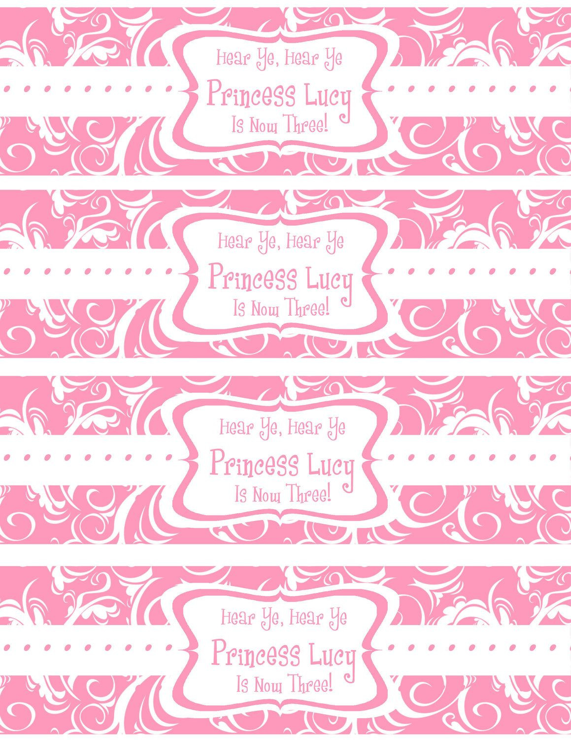 Free Printable Water Bottle Labels Template