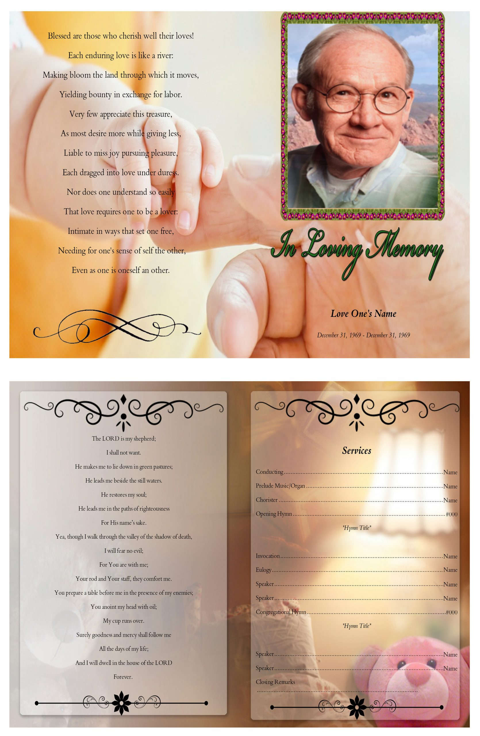 Funeral Bulletin Template Free