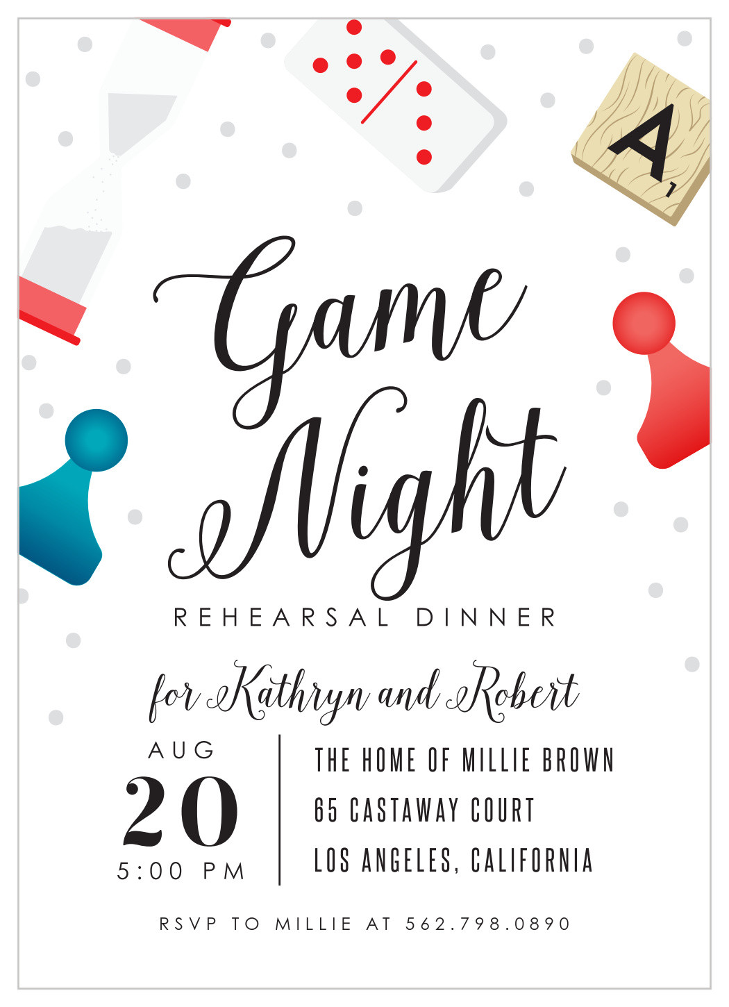 Game Night Invitation Template