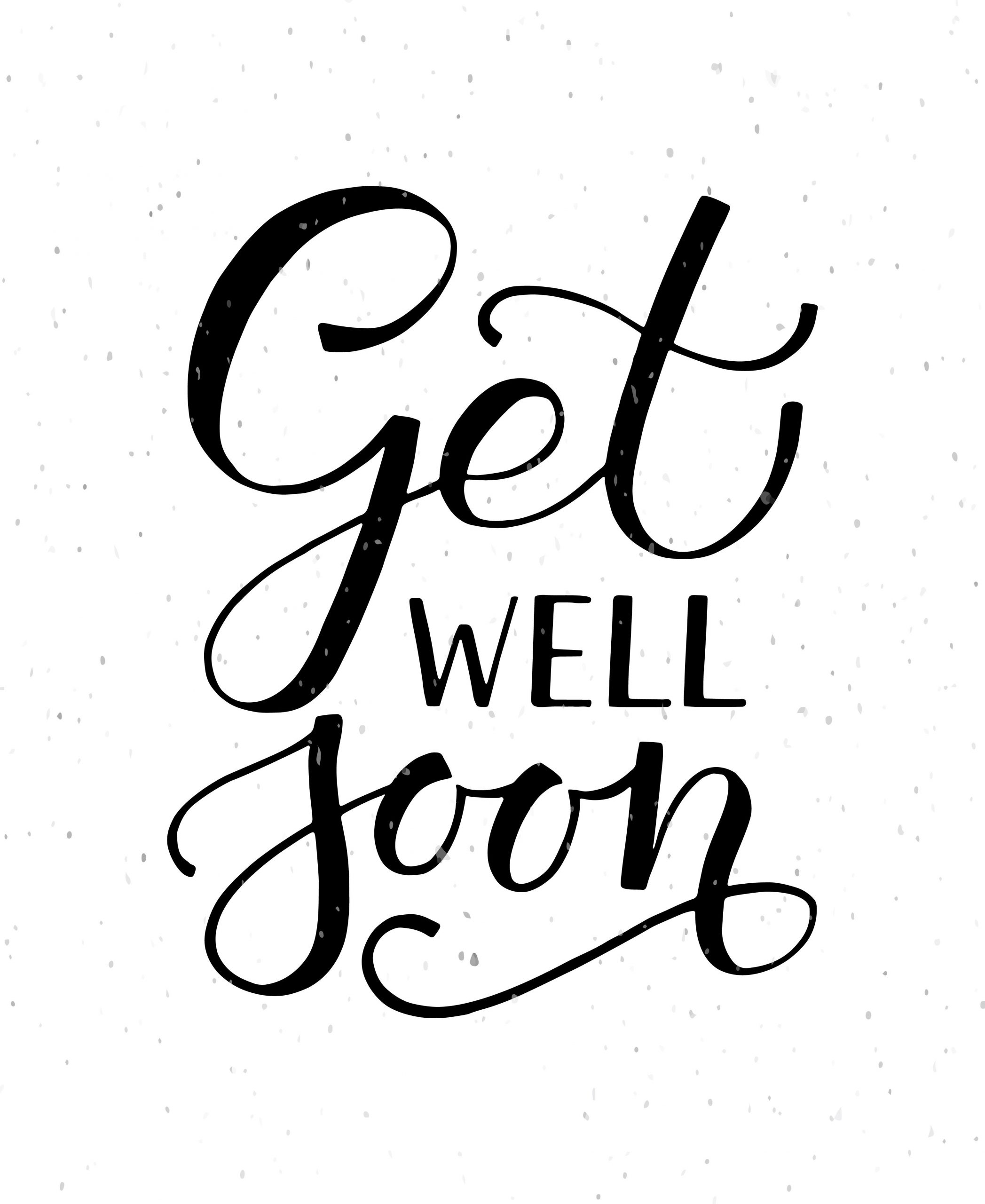 Get Well Soon Typography Card