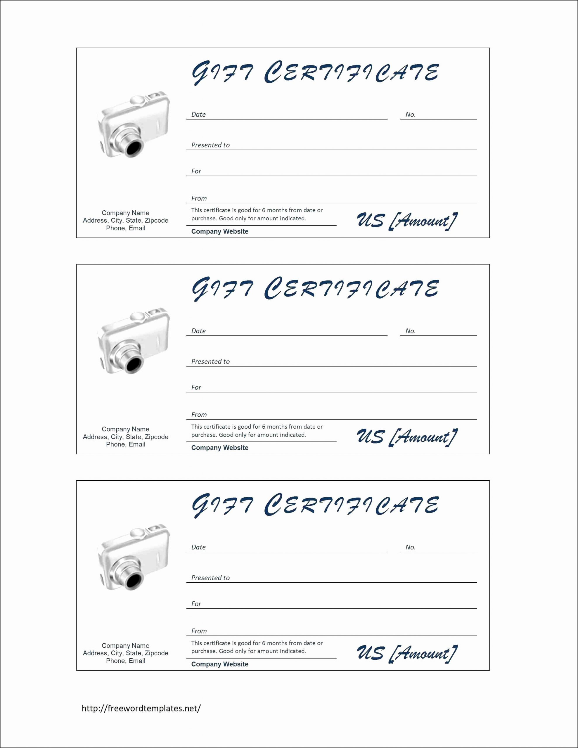 Free Massage Gift Certificate Template in 2020