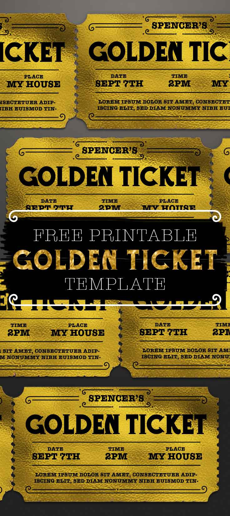Customizable Golden Ticket Template Free Printables line