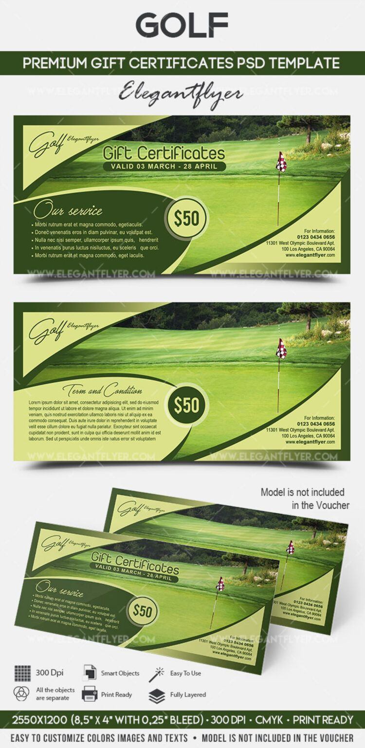 002 Template Ideas Golf Course Gift Certificate Free
