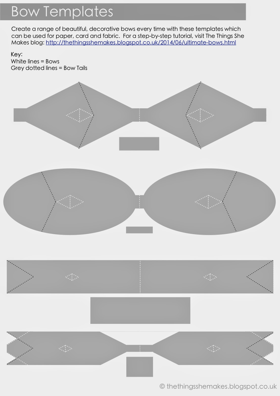 Hair Bow Template Printable