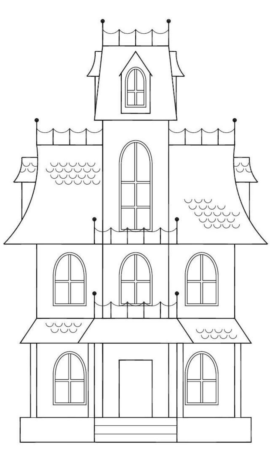 Haunted House Template Printable