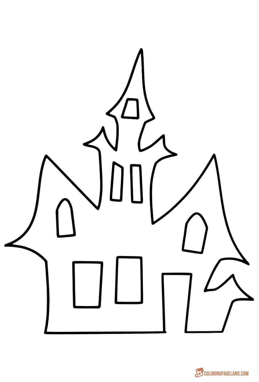 House Coloring Pages Downloadable and Printable