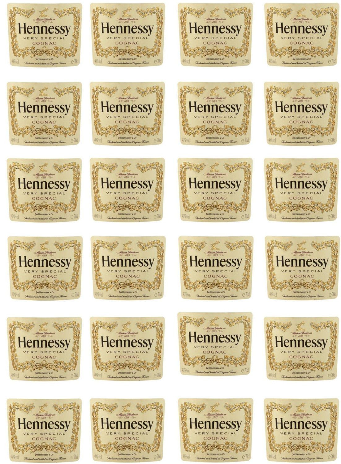 Hennessy Bottle Edible Image Labels