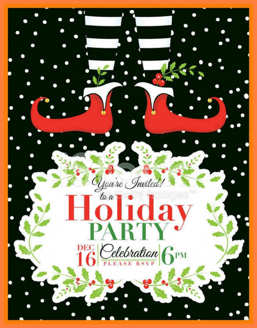 Holiday Party Invite Template