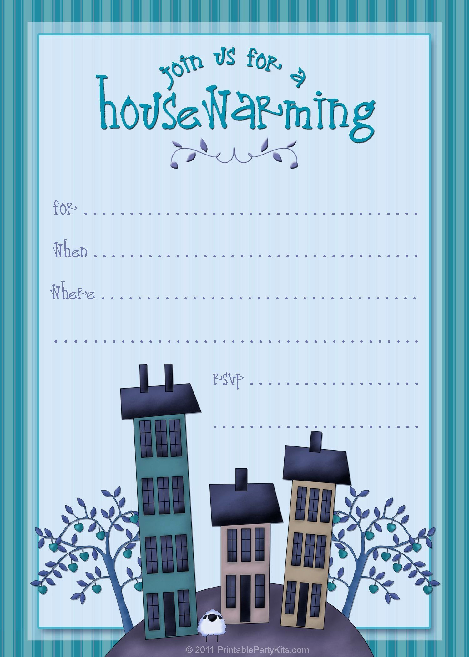 House Warming Party Invitation Template New Housewarming