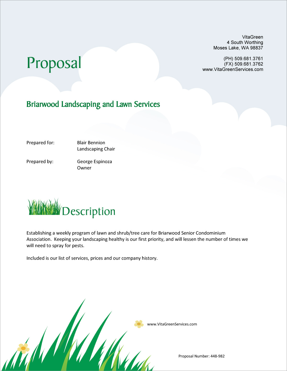 Lawn Care and Landscaping Services Proposal 5 Steps