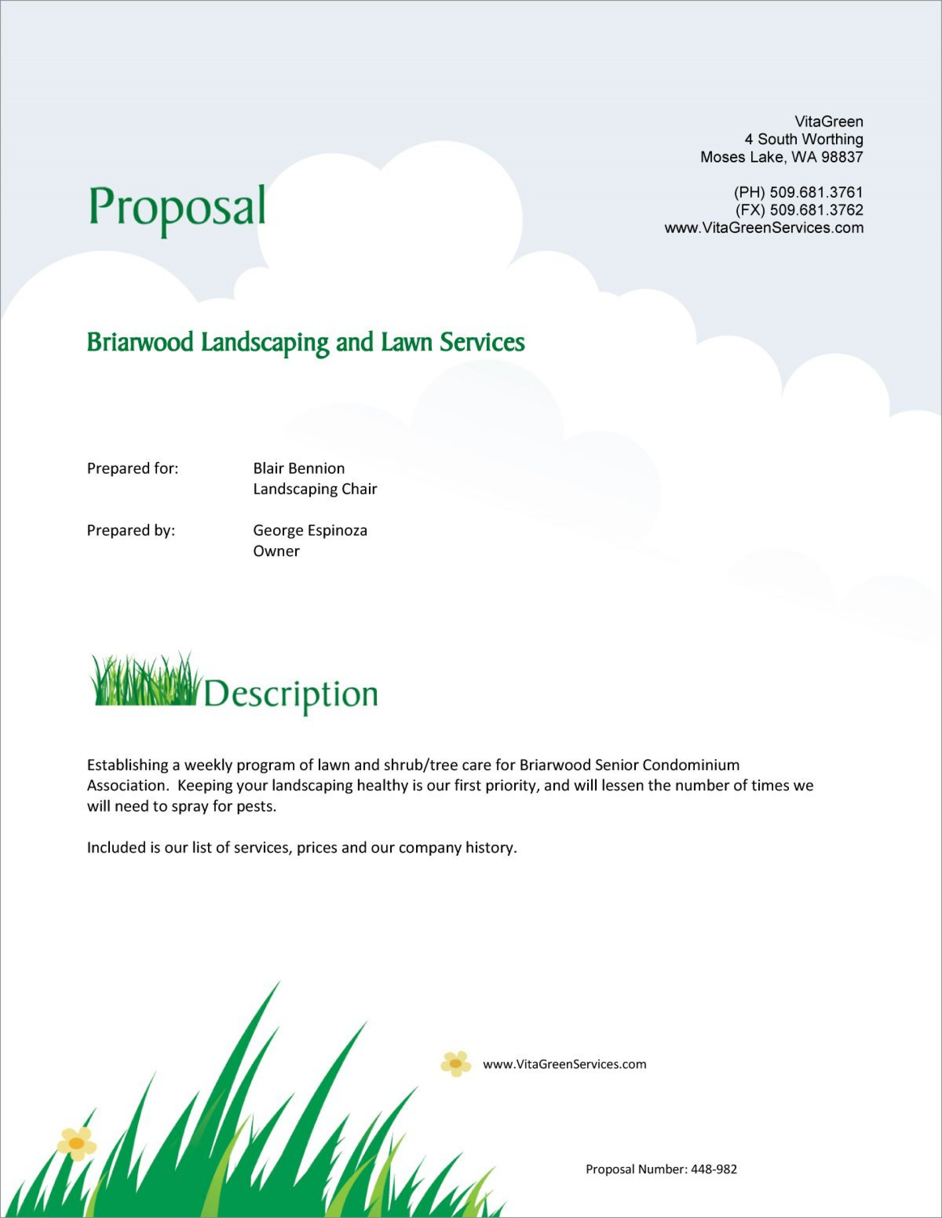 Lawn Care Quotes Template