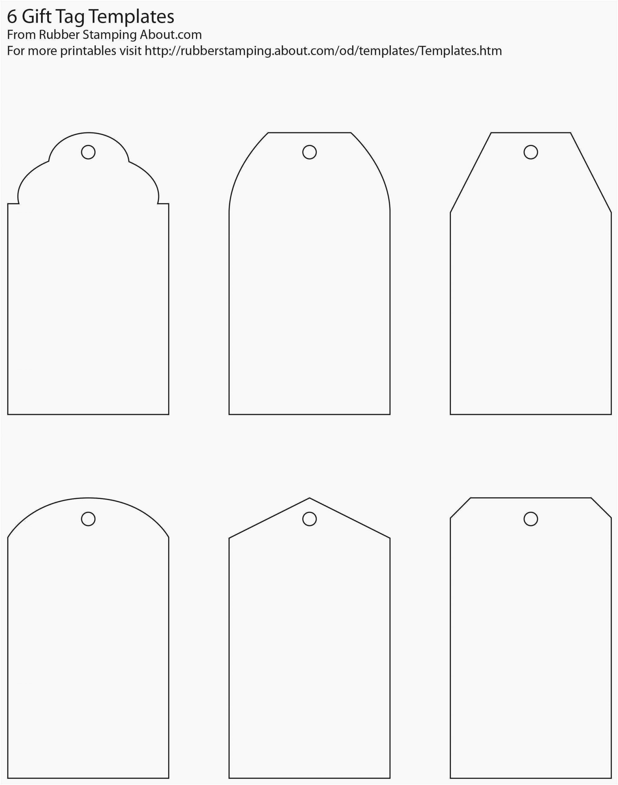 Luggage Tag Insert Template