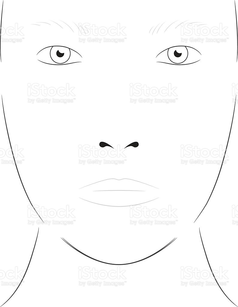 Makeup Face Chart Template