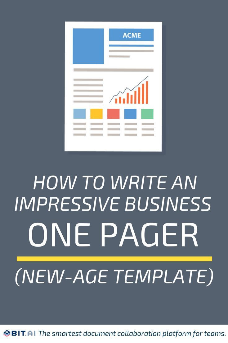 Marketing One Pager Template