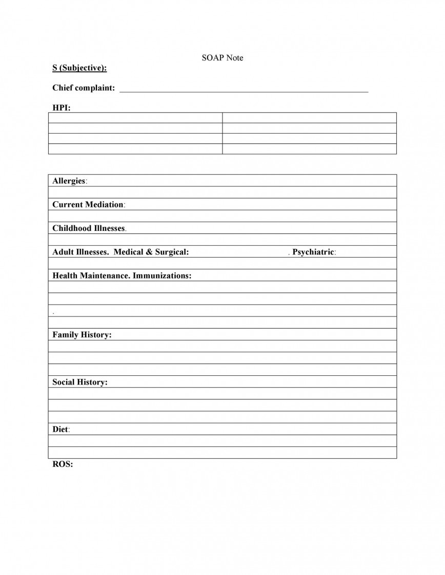 Medical Progress Note Template