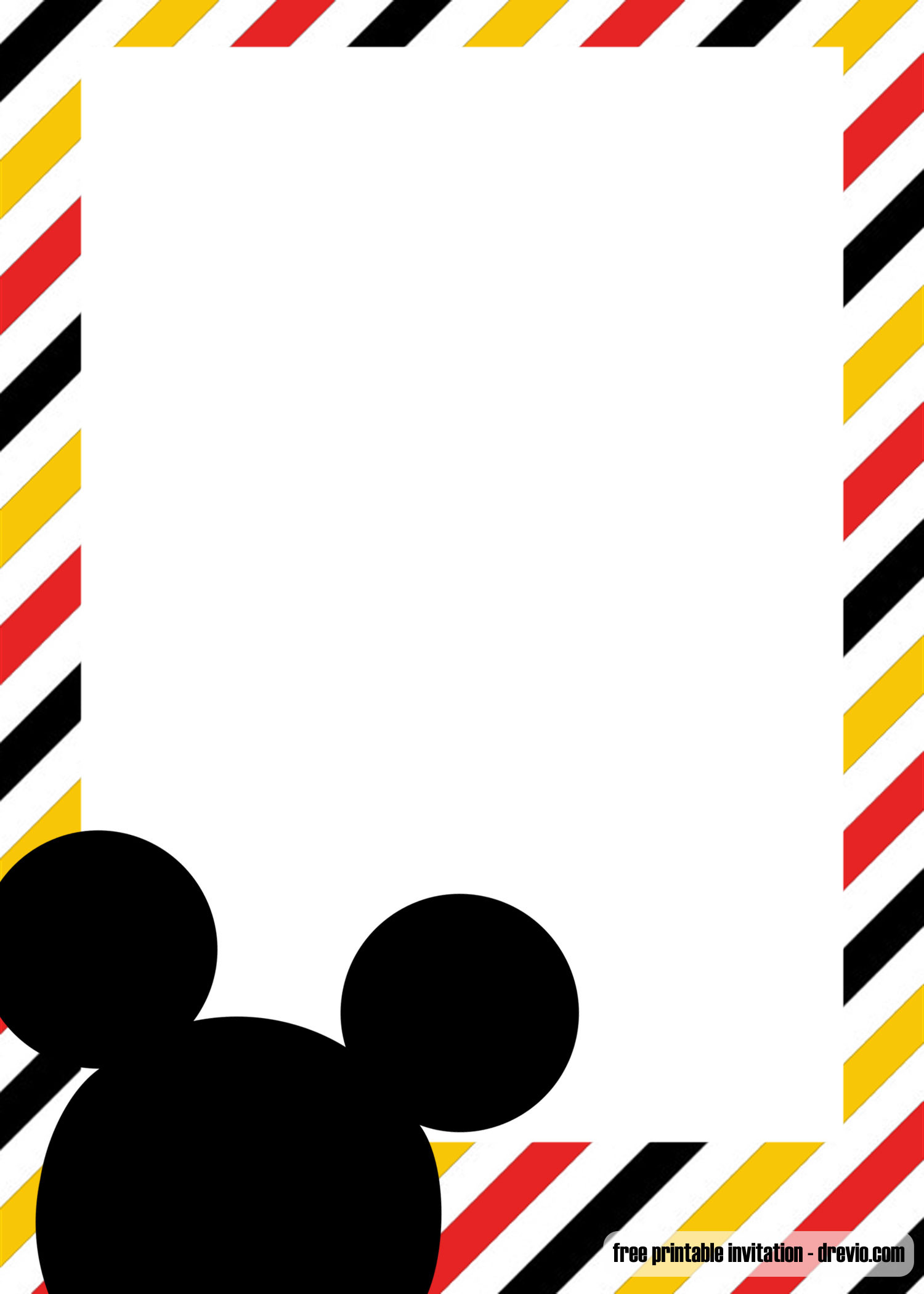 Mickey Mouse Invitations Template