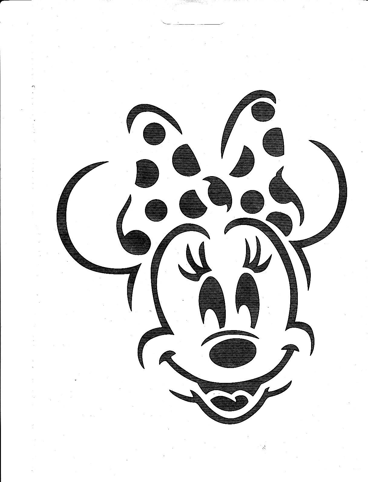Minnie Mouse Pumpkin Template