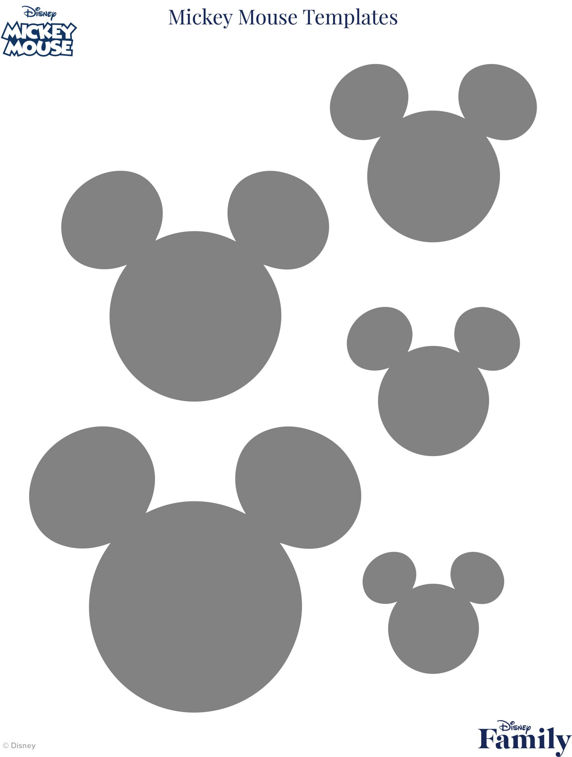 Minnie Mouse Template Head