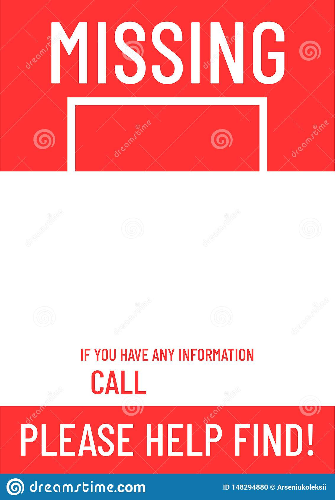 Missing Person Poster Template