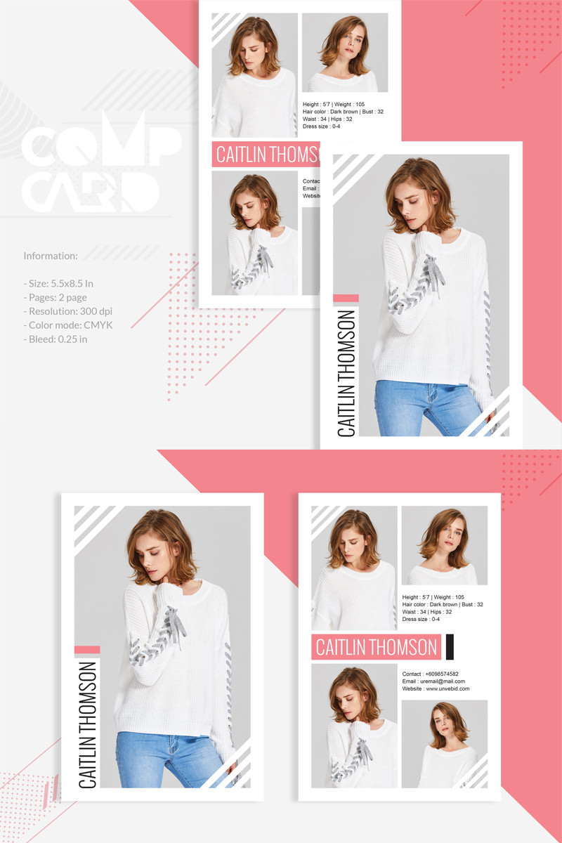 Model Comp Card Template