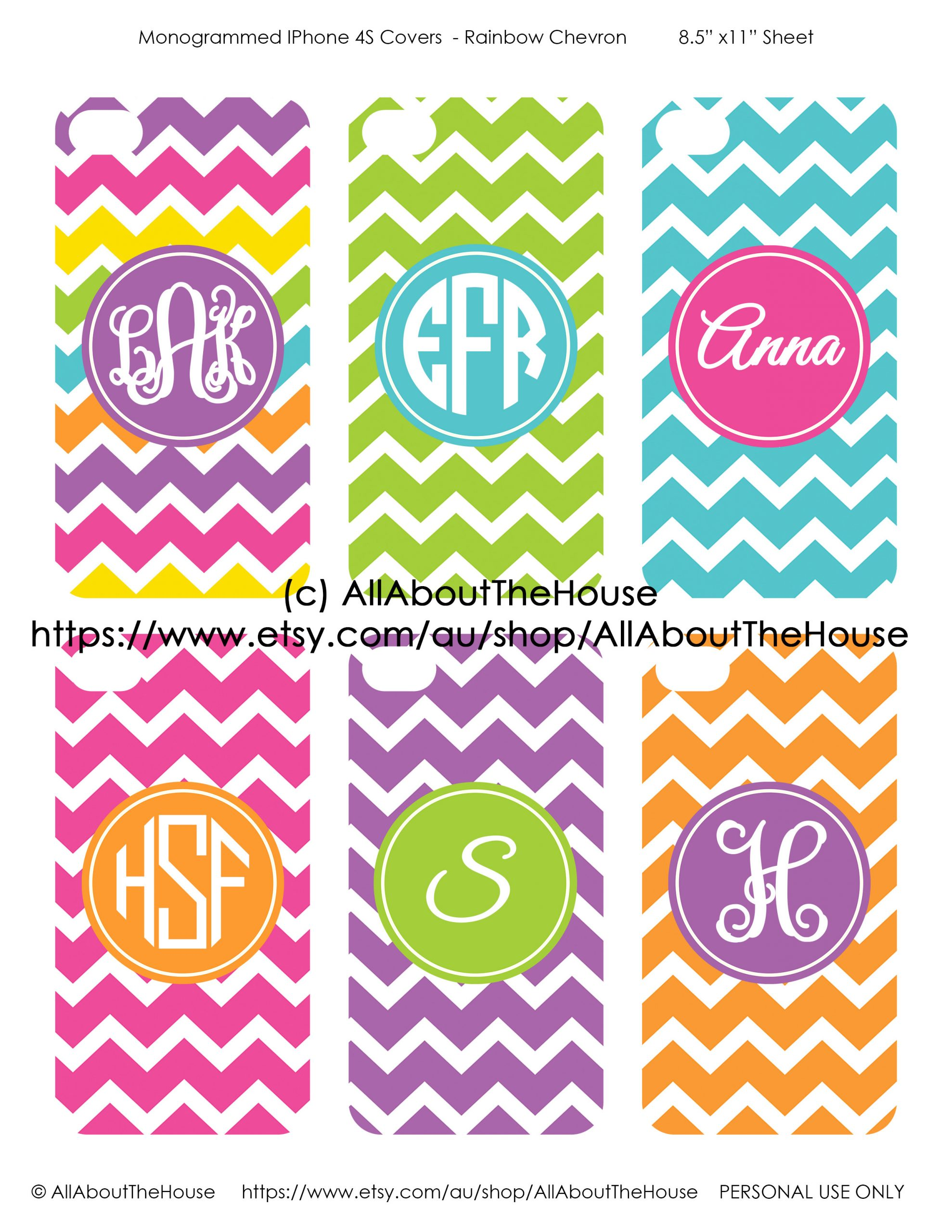 Monogram Template Free Printable