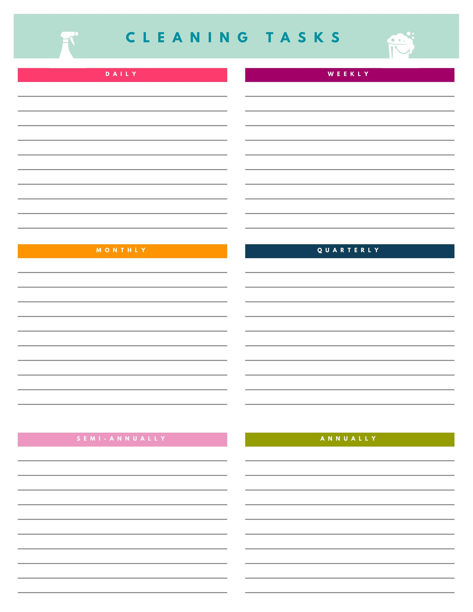40 Printable House Cleaning Checklist Templates TemplateLab