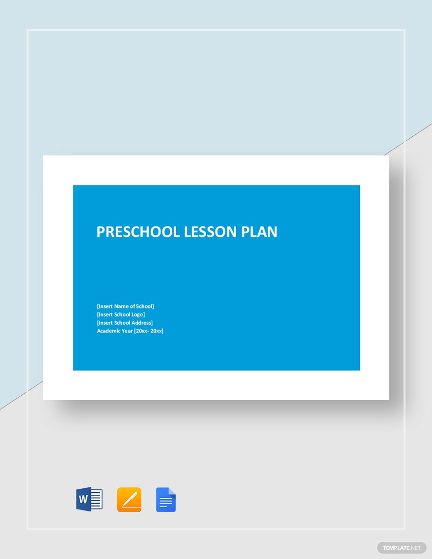 Monthly Lesson Plan Template