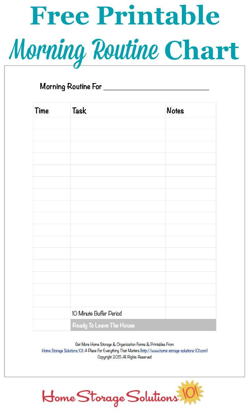 Free Printable Morning Routine Chart Plus How To Use It