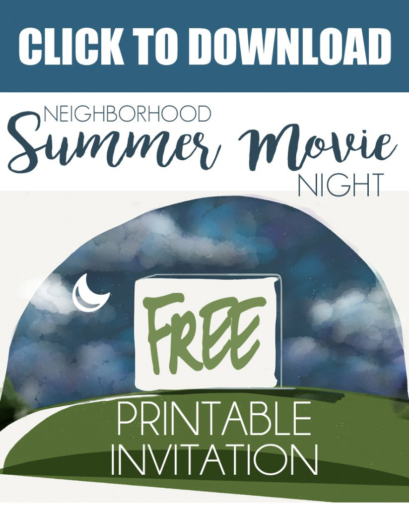 Movie Night Invitation Template