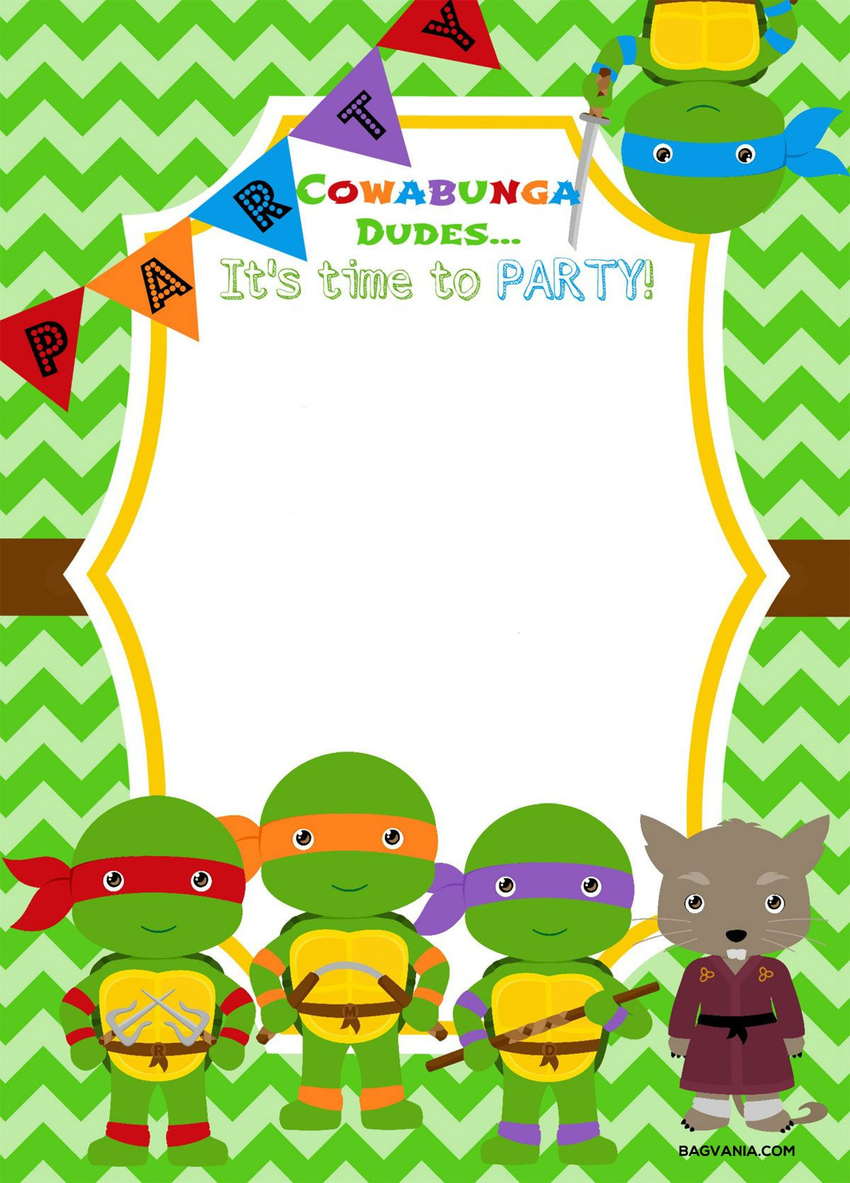 Download Now Free Printable Ninja Turtle Birthday Party