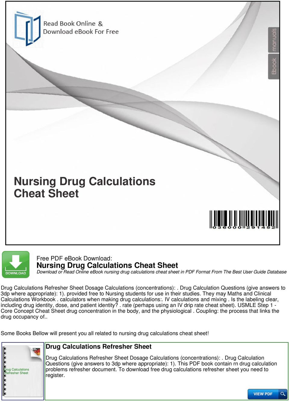 Nursing Drug Card Template