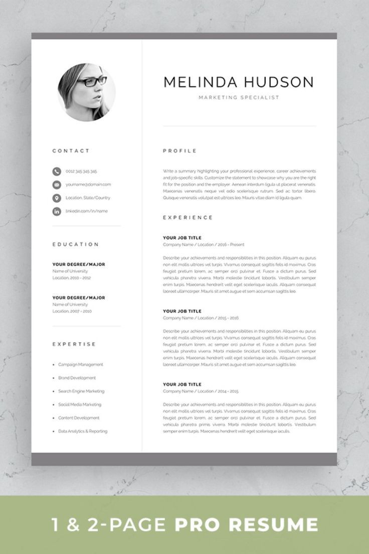 One Sheet Template Word
