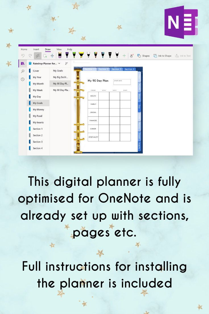 Onenote Daily Planner Template