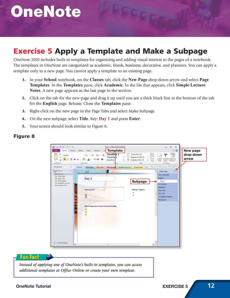 Onenote Project Management Template