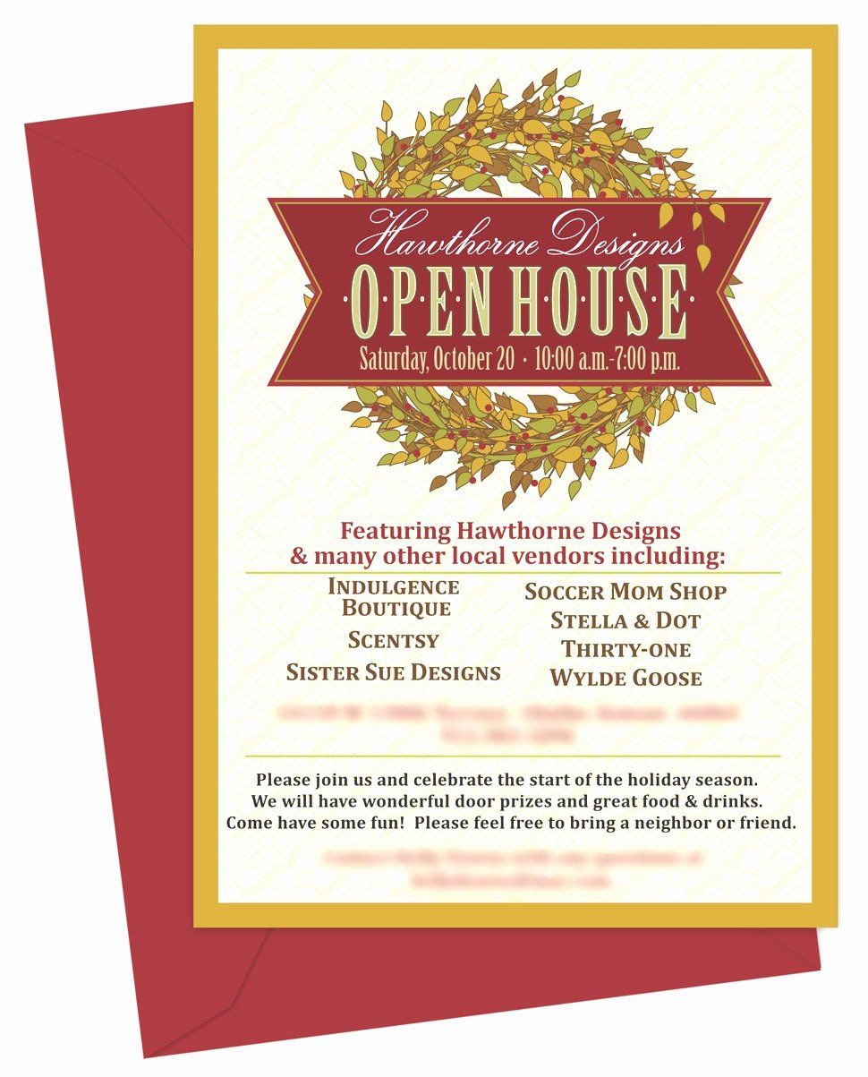 Open House Invitation Templates Beautiful Open House