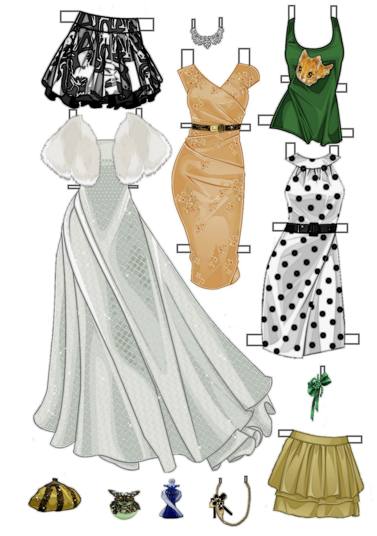 Paper Doll Clothes Template