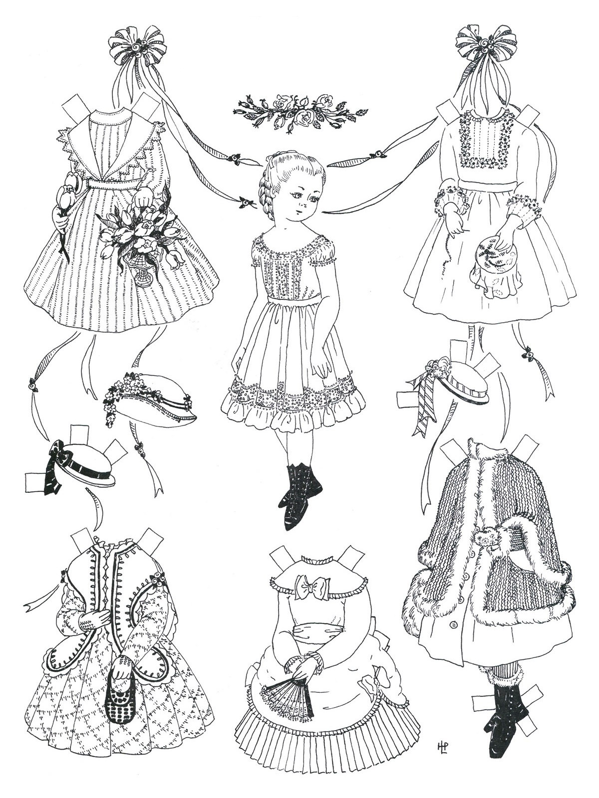 Paper Doll Clothing Template