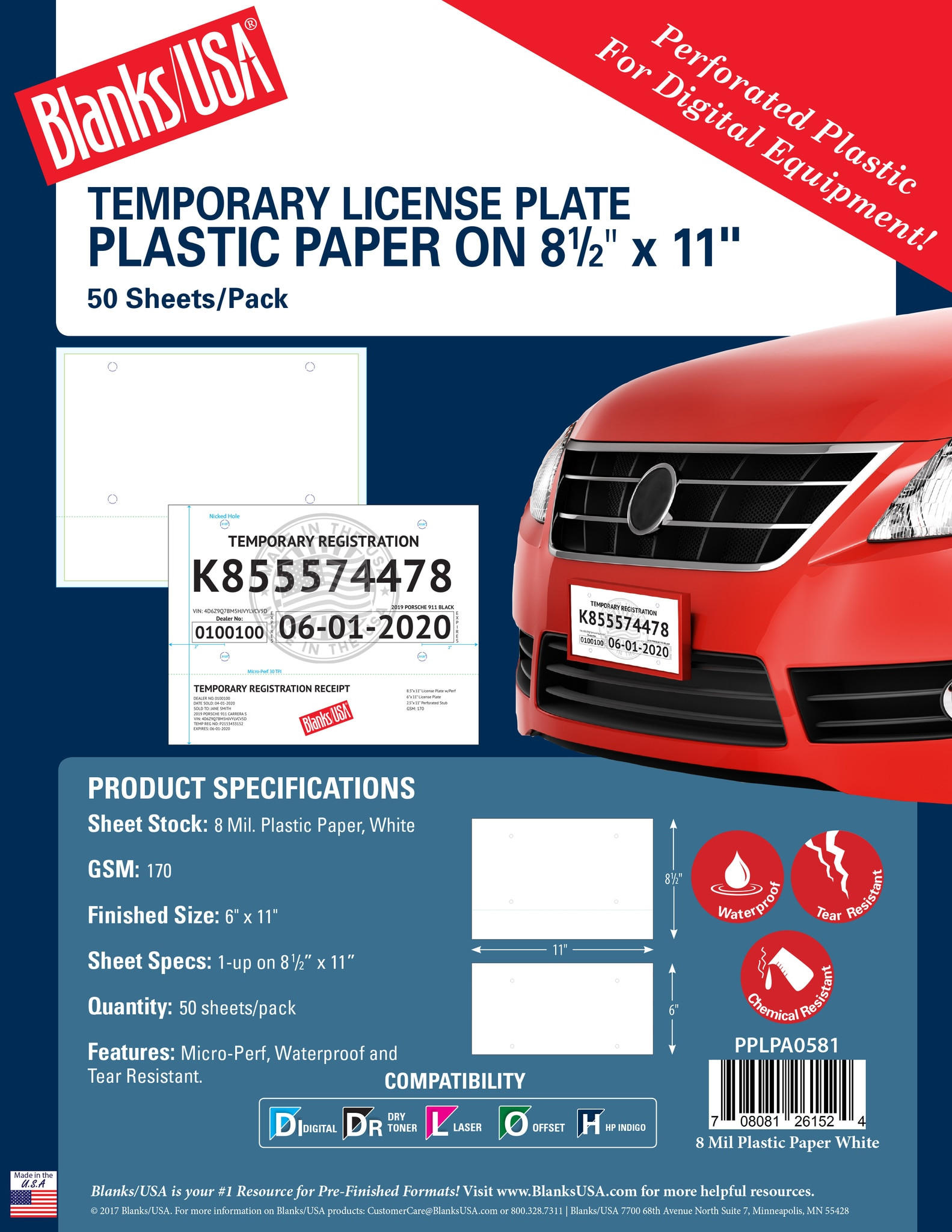 Paper License Plate Template